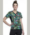 Photograph of Flexibles Women's V-Neck Knit Panel Top Tropical Tango CK611-TRTG