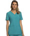 Photograph of iFlex Women's Mock Wrap Knit Panel Top Blue CK619-TLB