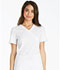 Photograph of iFlex Women's Mock Wrap Knit Panel Top White CK619-WHT