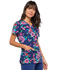 Photograph of Cherokee Prints Women's Mock Wrap Top Stitch By Stitch CK620-STBS
