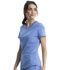Photograph of Infinity Women V-Neck Top Blue CK623A-CIPS