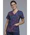 Photograph of Cherokee Flexibles Women's V-Neck Knit Panel Top Speck-tacular CK624-SOSC