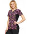 Photograph of Flexibles Women V-Neck Knit Panel Top Exotic Purr-spective CK625-EXPU