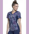 Photograph of Cherokee Flexibles Women's V-Neck Knit Panel Top Pineapple Paisley CK625-PAPP