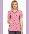 Photograph of Flexibles Women's V-Neck Knit Panel Top We're Owl In Line CK625-WOIL