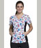 Photograph of Cherokee Flexibles Women's V-Neck Knit Panel Top Heart Healthy CK626-HTHY