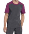 Photograph of Infinity Men Men's Colorblock Crew Neck Top Gray CK630A-PWPS