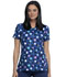 Photograph of Infinity Women's V-Neck Top Poppin' Polka Dots Navy CK634-PKNV
