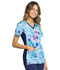 Photograph of iFlex Women's V-Neck Knit Panel Top Butterfly Blossoms CK636-BTBM