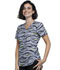 Photograph of Cherokee Prints Women V-Neck Top Zebra Pop CK637-ZBPO