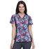 Photograph of iFlex Women's V-Neck Knit Panel Top Glorious Garden CK641-GLOR