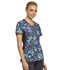 Photograph of iFlex Women's Mock Wrap Knit Panel Top Flor-ever In My Dreams CK642-FDRE