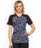 Photograph of Infinity Women's V-Neck Top Marked Hearts CK645-MRHT