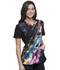 Photograph of Infinity Women V-Neck Top Floral Spectrum CK648-FLUM