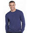 Photograph of Infinity Men's Men's Long Sleeve Underscrub Knit Top Blue CK650A-NYPS