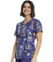 Photograph of Cherokee Prints Women V-Neck Top Haunted Halloween CK651-HAUH