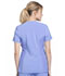 Photograph of iFlex Women's Mock Wrap Knit Panel Top Blue CK680-CIE