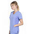Photograph of iFlex Women Mock Wrap Knit Panel Top Blue CK680-CIE