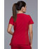 Photograph of iFlex Women Mock Wrap Knit Panel Top Red CK680-RED