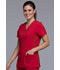 Photograph of iFlex Women's Mock Wrap Knit Panel Top Red CK680-RED