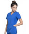 Photograph of iFlex Women's Mock Wrap Knit Panel Top Blue CK680-ROY