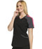 Photograph of Infinity by Cherokee Women's Colorblock V-Neck Top Black CK690A-BAPS