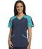 Photograph of Infinity by Cherokee Women's Colorblock V-Neck Top Blue CK690A-NYPS