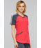 Photograph of Infinity Women Colorblock V-Neck Top Red CK690A-PUNC