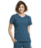 Photograph of Statement Women's Ribbed V-Neck Top Blue CK695-CAR