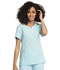 Photograph of Statement Women's Ribbed V-Neck Top Blue CK695-CLWA