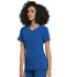 Photograph of Statement Women's Ribbed V-Neck Top Blue CK695-ROY
