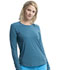 Photograph of Infinity Women Long Sleeve Underscrub Knit Tee Blue CK765-BJPW