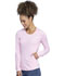 Photograph of Infinity Women Long Sleeve Underscrub Knit Tee Pink CK765-PKWT