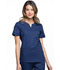 Photograph of Luxe Women's Notch V-Neck Top Blue CK770-NAVV