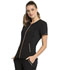 Photograph of Statement Women's V-Neck Zip Front Top Black CK795-BLK