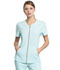 Photograph of Statement Women's V-Neck Zip Front Top Blue CK795-CLWA