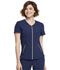 Photograph of Statement Women's V-Neck Zip Front Top Blue CK795-NAV