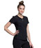 Photograph of iFlex Women's V-Neck Button Placket Top Black CK800-BLK