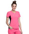 Photograph of iFlex Women's V-Neck Button Placket Top Pink CK800-KAPK