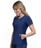 Photograph of iFlex Women's V-Neck Button Placket Top Blue CK800-NAV