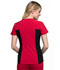 Photograph of iFlex Women's V-Neck Button Placket Top Red CK800-RED