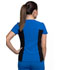Photograph of iFlex Women's V-Neck Button Placket Top Blue CK800-ROY