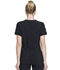 Photograph of Infinity Women's Zip Front V-Neck Top Black CK810A-BAPS