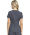 Photograph of Infinity Women Zip Front V-Neck Top Gray CK810A-PWPS