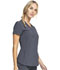 Photograph of Infinity Women's Zip Front V-Neck Top Gray CK810A-PWPS