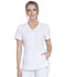 Photograph of Infinity Women's Zip Front V-Neck Top White CK810A-WTPS