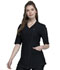 Photograph of Cherokee Form Women Asymmetrical Zip Front Tunic Black CK842-BLK