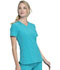 Photograph of Infinity Women V-Neck Top Blue CK865A-TLPS