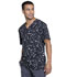Photograph of Infinity Men's Men's V-Neck Top Brush Stroke Black CK902-BOBK
