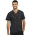 Photograph of Infinity Men Men's V-Neck Top Glowing Grid CK902-GWGD